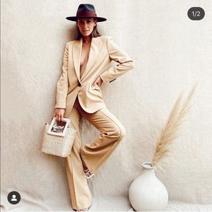 Zara oversized blazer plus pants bloggers favorite